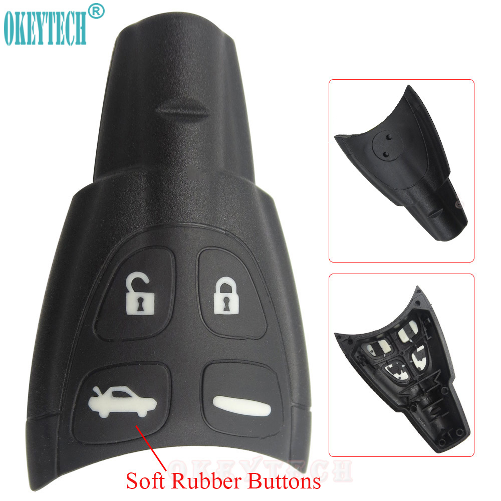 OkeyTech Remote Key Shell Case For SAAB 9-3 9-5 93 95 2009 WF 4 Buttons Soft Rubber Button Replacement Fob Cover Free ShippingOkeyTech Remote Key Shell Case For SAAB 9-3 9-5 93 95 2009 WF 4 Buttons Soft Rubber Button Replacement Fob Cover Free Shipping