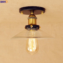 Vintage LED Ceiling Lights Fixtures For Home Glass Living Room Industrial Edison Ceiling Lighting Lampara Techo Plafonnier iron wrount edison vintage ceiling lights fixtures home lighting edison led ceiling lamp industrial plafon lampara techo