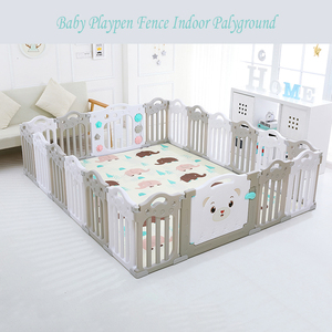 Best Price Baby Playpen Fence Indoor Palyground Park Kids Safe Guardrail Baby Game Crawling Fence Baby Play Yard 18 Pieces/set