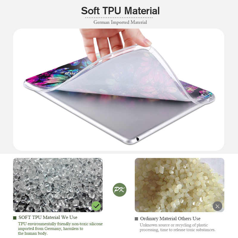 Case untuk Samsung Galaxy Tab A 10.1 2019 Kasus SM-T510 T515 10.1 ''Silikon Lembut TPU Kembali Fashion Dicat Tablet cover Bumper
