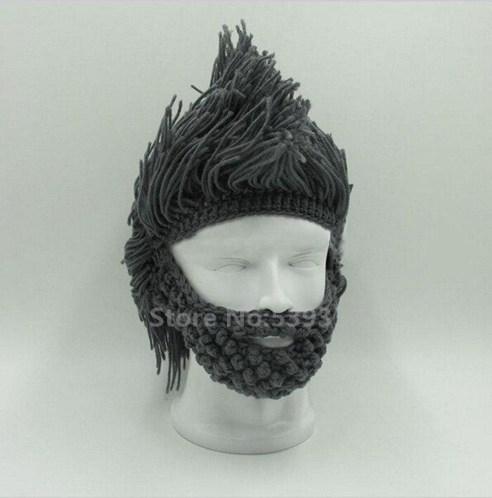 2017 hecho a mano hecho punto invierno ganchillo sombrero bigote ...