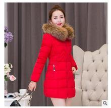 2017 осень зима женщины нью-Корейской версии длинный раздел хлопка утолщение Тонкий большой размер зимняя куртка зима куртка