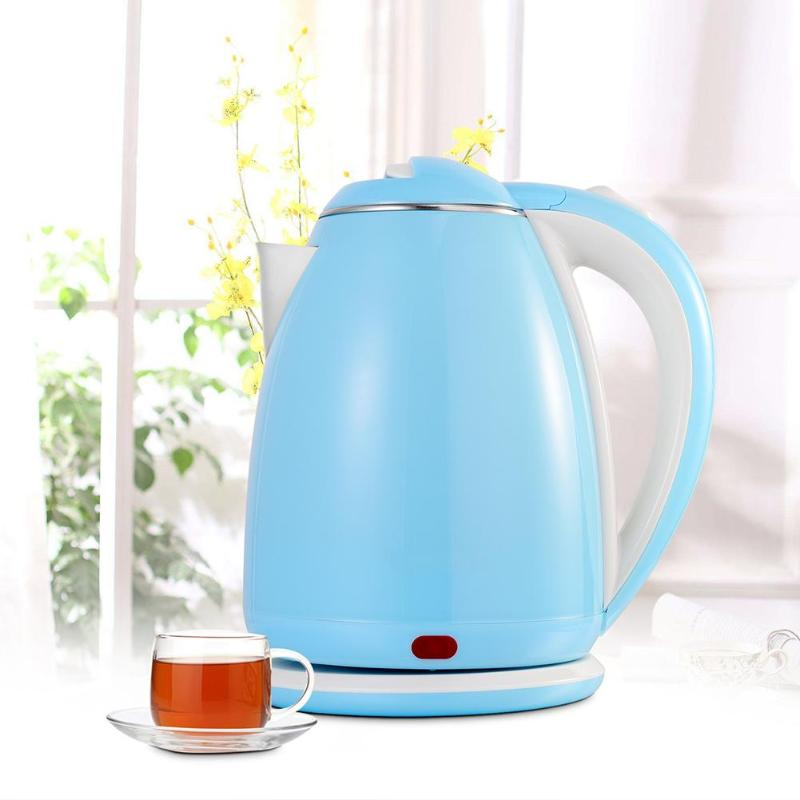 1500W Stainless Steel Electric Kettle Quick Heating Hot Water Kettle Boiler Bottle Pot Overheating Protection Power Off for Home 1500w split style stainless steel electric kettle quick heating household kitchen hot water bottle pot appliances auto power off