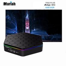 D'origine T95Z plus Amlogic S912 TV BOX Octa Core 3 GB 16 GB Android 6.0 TV BOX 2.4GH/5 GHz WiFi Bluetooth 3D 4 K HD Kodi pleine charge