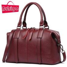 BVLRIGA Luxus Handtasche Frauen Tasche Designer Echtem Leder Handtasche Frauen Berühmte Marke Crossbody Schulter Umhängetasche Weinrot