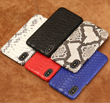 2019 New Luxury Fashion brand leather high quality Coque Cover  For iPhone X 10 XR XS MAX 6 6S 7 8 Plus Python skin Phone Case