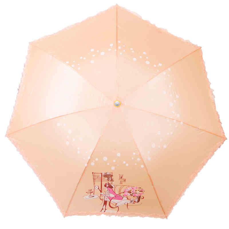 UV Umbrella Princess sun protection Lace Adult Ladies sunny Guarda Pluie Paraguas El Rey Leon Folding Umbrella Rain Women DDGX87