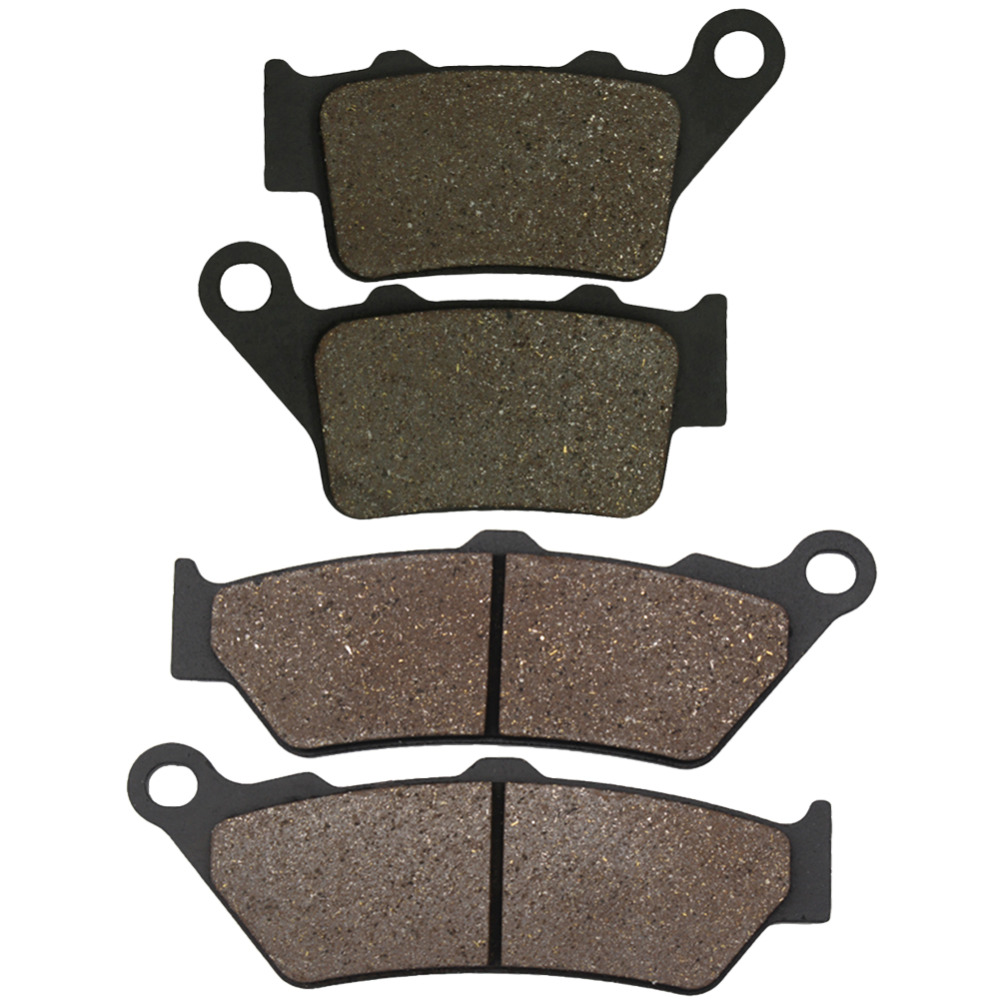 Cyleto Motorcycle Front and Rear Brake Pads for Yamaha XT660R XT 660R XT 660 R 2004 2005 2006 2007 2008 2009 2010 2011 2012 2013 motorcycle front and rear brake pads for suzuki gsr400 k6 2006 gsr600 k6 k7 k8 2006 2010 black brake disc pad
