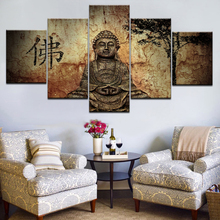 Original Buddha Statue Canvas Wall Art Abstract Print Home Decor for Living Room Picture 5 Panel Large Poster HD Printed Artwork 28 5 47cm original fake kaws pinocchio medicom toy factory product 100% real picture large size display art