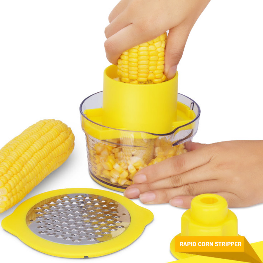 Multifunctional Stainless Steel Corers for Kitchen,Corn Stripping Tool Corn Slicers Cutter Ginger Grater Fruit & Vegetable Tools