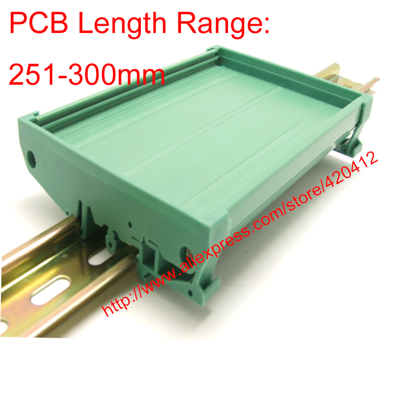 UM90 PCB length 251-300mm profile panel mounting base PCB housing PCB DIN Rail mounting adapter