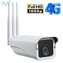 YSA Outdoor Security IP Camera Wi-Fi Wireless Bullet Camera 4G 3G SIM Card CCTV Video Surveillance Wifi 1080P HD IR Night Vision