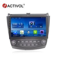 HACTIVOL 10.2 quadcore car radio for Honda Accord 7 (2.0) 2004 2007 android 7.0.1 car dvd player with bluetooth,1G RAM 16G ROM