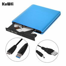 External DVD CD Burner Drive USB 3.0 DVD-RW CD-RW Writer Rewriter Optical Disc CD DVD ROM Player For MAX IOS Windows XP/7/8/10 купить недорого в Москве