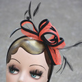 A353 Весна Партия Свадьба Sinamay Чародей Женщины Головные Уборы Перо Дамы Волос Accessoies Цветочный Дизайн Диадемы
