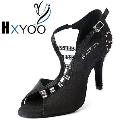 Zapatos de baile personnalisé chaussures de danse latine chaussures Salsa femmes confortables Satin salle de bal chaussures de danse latine N019