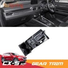 Per Mazda CX-5 CX5 2017 2018 2019 KF RHD Auto Gear Shift Pannello della Scatola Cornice Cornice Della Copertura Adesivi Strisce Contorno refit Styling