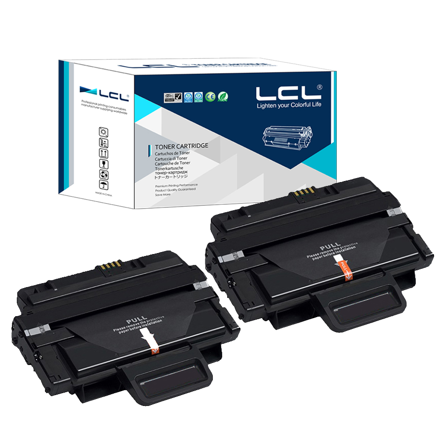 LCL MLT-D204L MLT-D204S 5000 Pages (2-Pack Black) Toner Cartridge Compatible for Samsung SL-M3325/3825/4025/3375/3875/4075 forudesigns casual women handbags peacock feather printed shopping bag large capacity ladies handbags vintage bolsa feminina