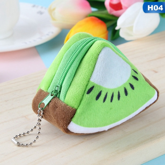 2018 Cute Fruit Wallet Gift Plush Coin Purse Women Female Bag Change Purse Moneybag Small Coin Purse For Girls Portfel Damski