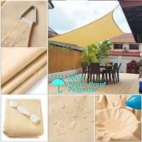 Beige beige yellow rectangle 2x4 2x5 2.5x3 3x5 3x6 4x5 sun protection garden outdoor shade sail