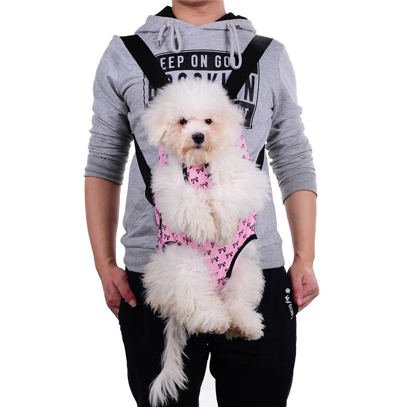 Cute Small Dog Backpack Carrier with Bowknot Pattern 6