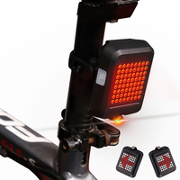 Waterproof 64 LED Laser Bicycle Tail light USB Rechargeable Automatic Turn Signals Safety Bike Warning Light