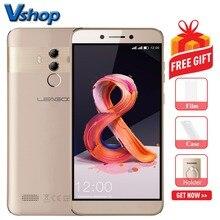Orijinal LEAGOO T8s 4g Cep Telefonları Android 8.1 4 gb + 32 gb Octa Çekirdek Smartphone Çift Arka Kameralar yüz KIMLIĞI 5.5