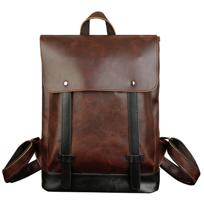 Men Backpack Waterproof PU Leather School Bag Travel Bag High Quality Man Laptop Backpacks Fashion Design Shoulder Bags RucksackMen Backpack Waterproof PU Leather School Bag Travel Bag High Quality Man Laptop Backpacks Fashion Design Shoulder Bags Rucksack