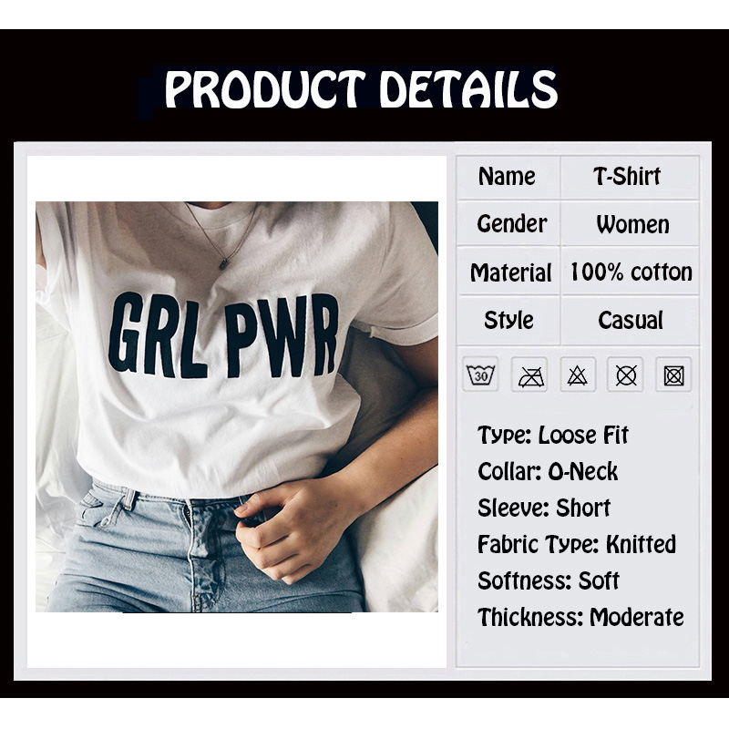 100% Cotton GRL PWR Tee