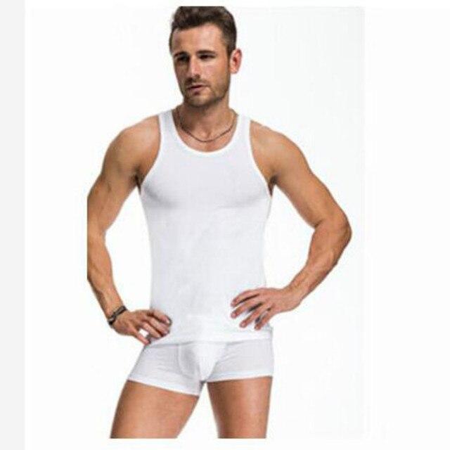27531e7af4e Men s Tank Top Slim Body Sculpting Clothing Shape Underwear Summer Cotton  Tanks Tight Tops Plus Size 6XL Black White Gray