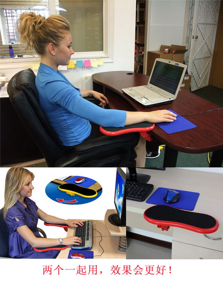 Smartlife Desk Attachable Computer Table Arm Support Mouse Pads Arm Wrist Rests Hand Shoulder Protect Pad metal adjustable arm rest wrist support extended mousepad rotation ergonomic mouse pad shoulder protect for office game