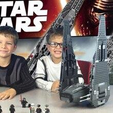building bricks 75104 Star Plan Wars Kylo Ren Command Shuttle Model 1053pcs Building Blocks Toys with Character Figures