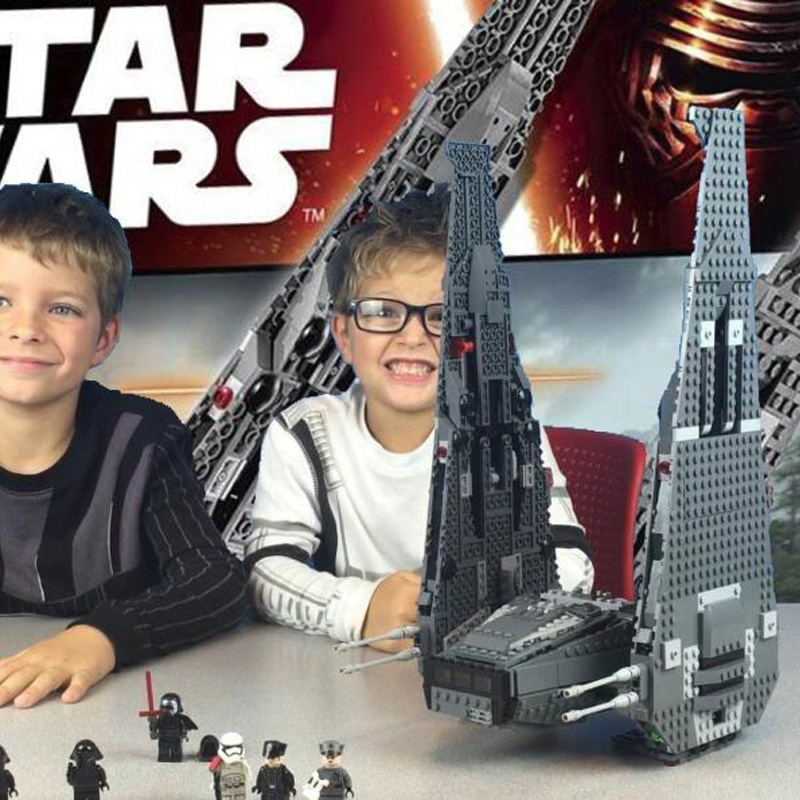 building bricks 75104 Star Plan Wars Kylo Ren Command Shuttle Model 1053pcs Building Blocks Toys with Character Figures