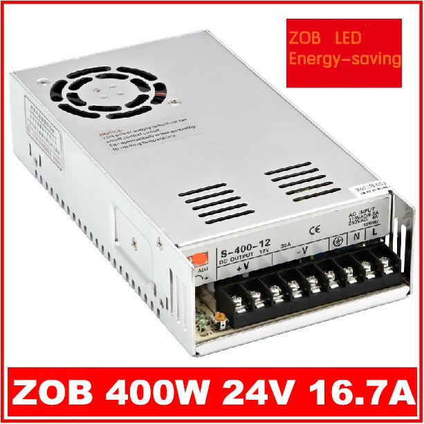 400W LED Switching Power Supply,24V 16.7A,85-265AC input,CE ROSH power suply 24V Output freeshipoing 360w led switching power supply 85 265ac input 12v 30a for led strip light power suply ce rosh 12 output