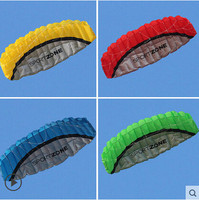 Free Shipping High Quality 2 5m Dual Line Stunt Parafoil Kite Power Soft Kite Various Colors