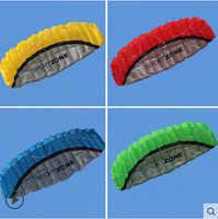 Envío Gratis alta calidad 2,5 m doble línea 4 colores parafóleo paracaídas deportes playa cometa fácil de volar