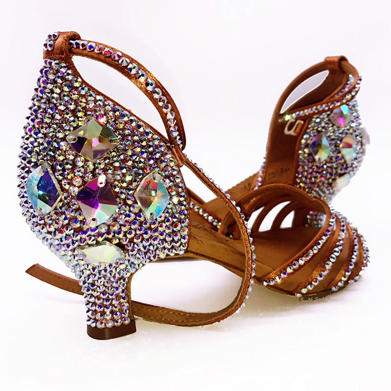 Sneakers BD 311 Meninas Sapatos de Dança Latina Adultos Sapatos Latino Fundo Macio Sapato Adicionar Broca de Diamante Ballroom SALSA SALTO PRETO 4.5 cm