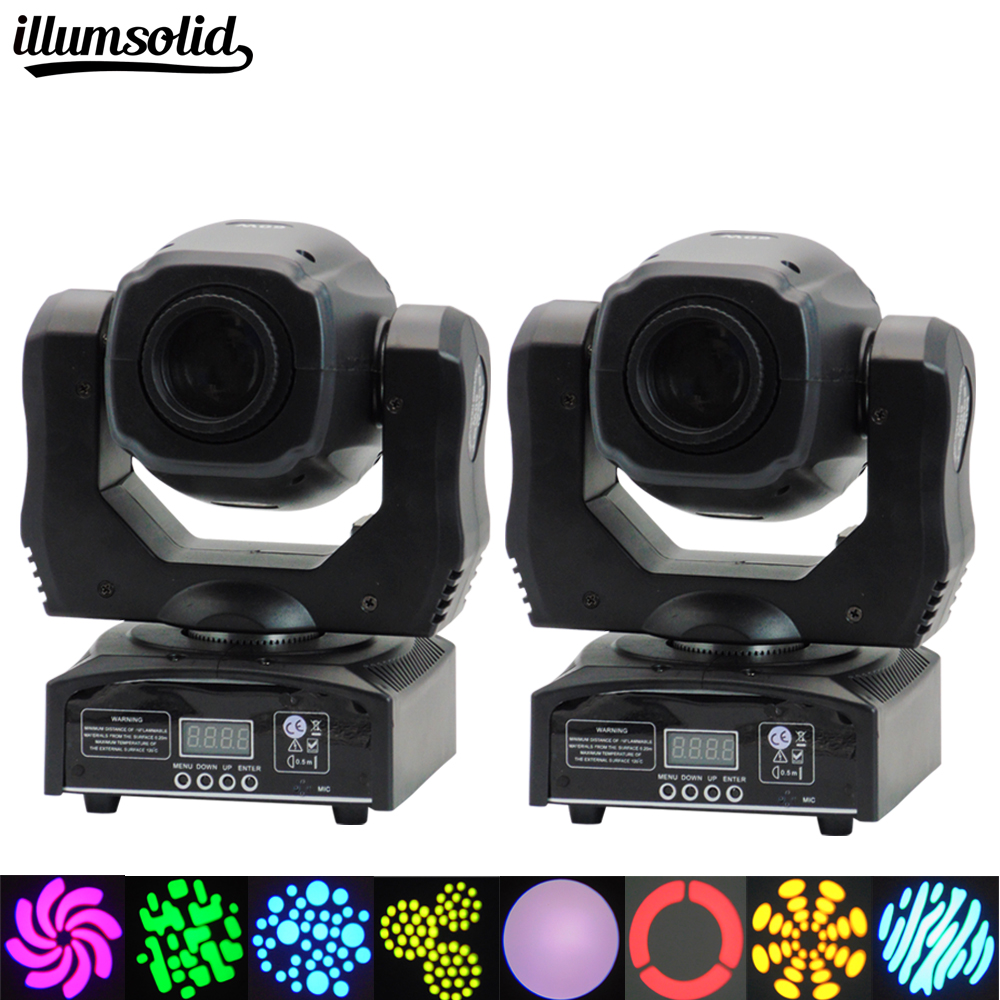 (2 pieces/lot) moving 60w LED Moving Head gobo Light led dmx 512 control mini dj diso moving heads 60w moving 60w led moving head gobo light led dmx 512 control mini dj diso moving heads 60w