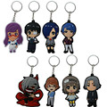 Hot 8cm Anime Tokyo Ghoul Figure Toys Kaneki Ken Touka Kirishima Shuu Tsukiyama PVC Figure Keychains Character Pedant