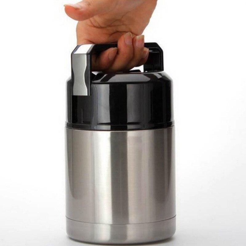 304 thermos en acier inoxydable boîte à lunch pour les plats chauds avec des conteneurs 800 ml 1000 ml Vide Flacons Thermos thermo tasse thermocup