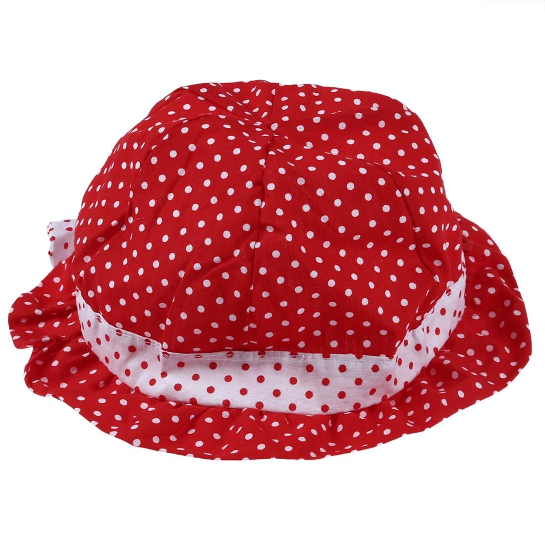 New Sweet Cute Baby children so Polka Summer Caps red