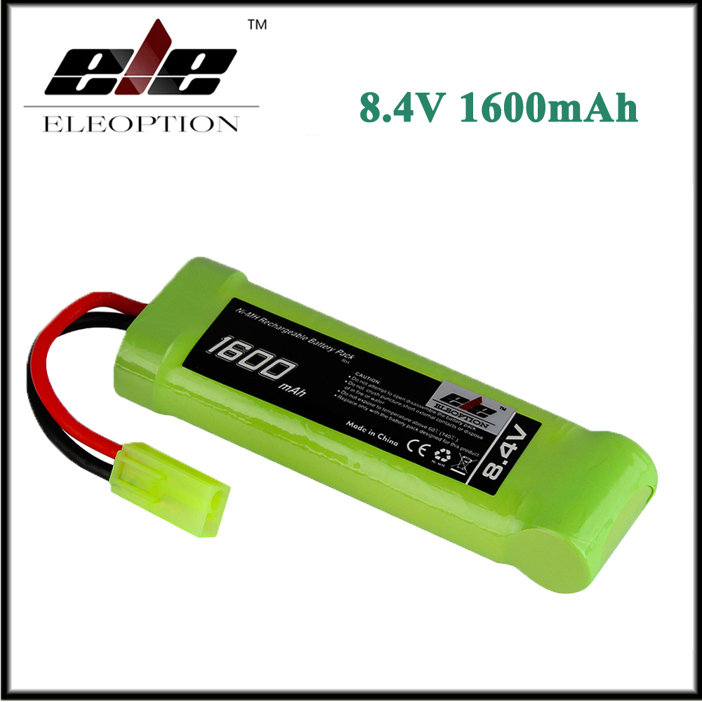 все цены на Eleoption 8.4V 1600mAh Ni-MH Flat Battery Pack with Mini Tamiya Female Connector Assembled with 16G Wire