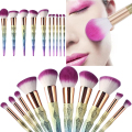 Professional Unicorn Colorful Design Makeup Brushes Sets Cosmetics Make Up Brushes Eyebrow Eyes Concealer Brush Set M03370