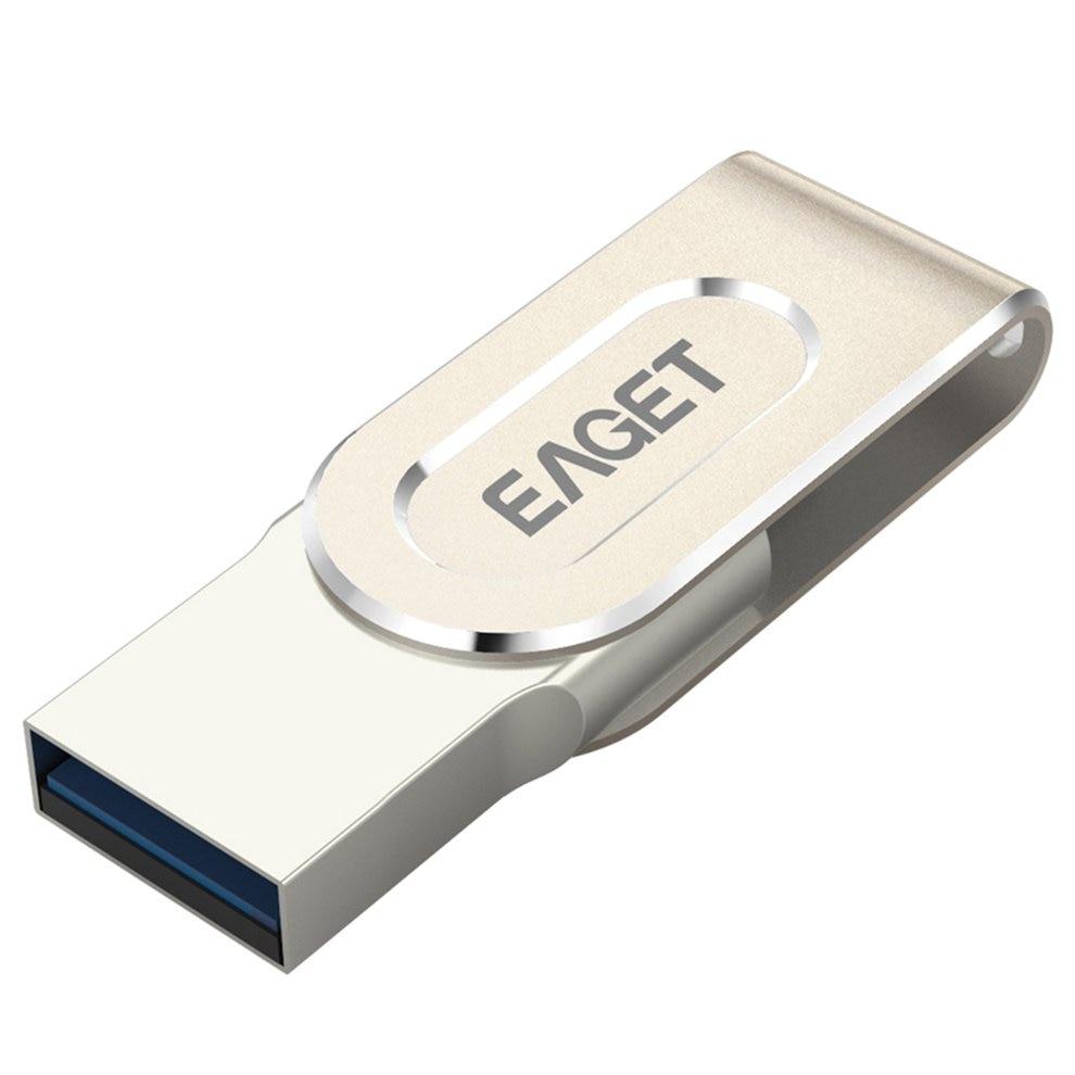 EAGET V88 USB 3.0 Micro USB OTG Pendrive 16GB 32G 64G Memory Stick Key Ring Hole Flash Drive for Android Phone Laptop PC