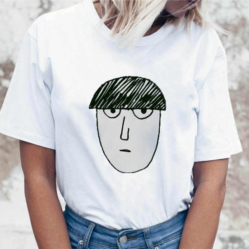 Mob psycho 100 t shirt top t-shirt femminile coreano maglietta per abbigliamento harajuku donne graphic divertente ulzzang tees