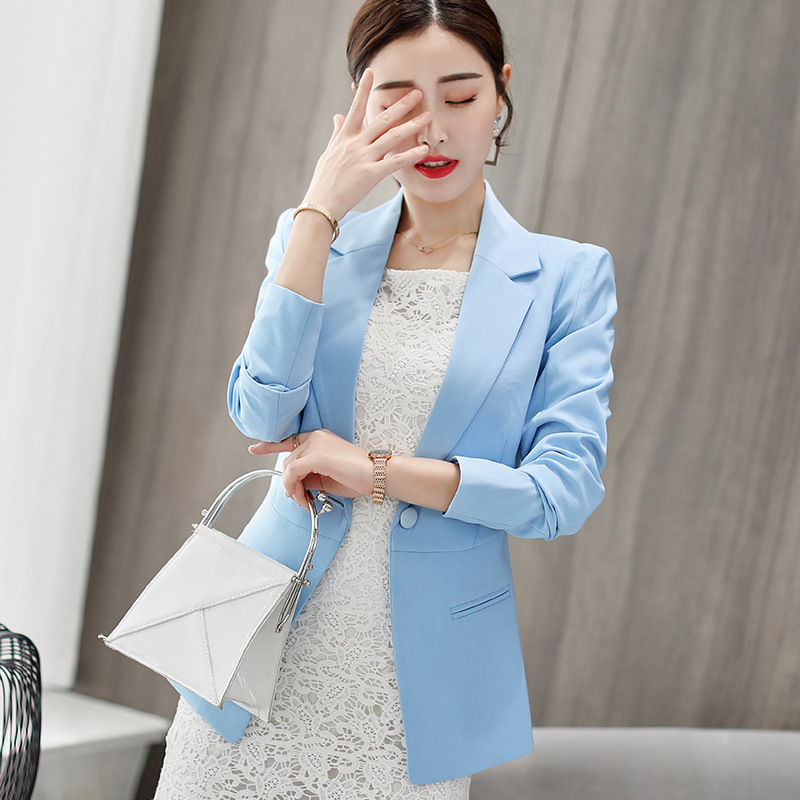 Autumn Winter Suits Women's Blazers Formal Office Work Blazer White Black Blazer Long Sleeve Slim Suit OL Coats Traje Terno