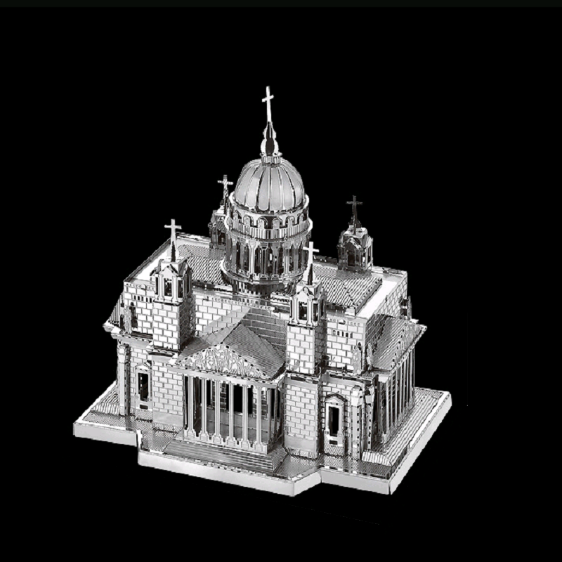 3D Metal Model Puzzle Kiev Cathedral In IlonDIY Toy Puzzle Model Kit Puzzle Adult Children Education Collection Holiday Gift