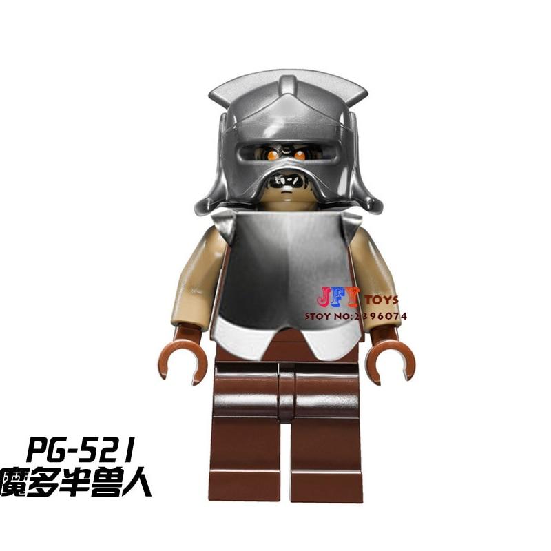 Single Sale star wars superhero Mordor Orc Lord of The Rings building blocks model bricks toys for children brinquedos menino