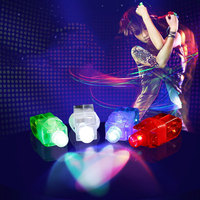 200 Pcs/lot finger led light laser ring lamps for KTV Dance Bar DJ Show Concert cheer Props light up magic fingers