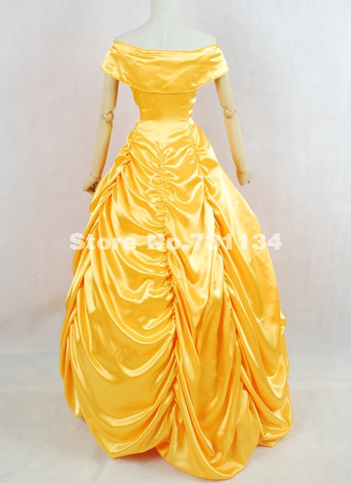 Brand New Gold Satins Off the Shoulder Long Prom Dresses Victorian ...
